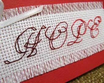 Cross stitch card - Hope