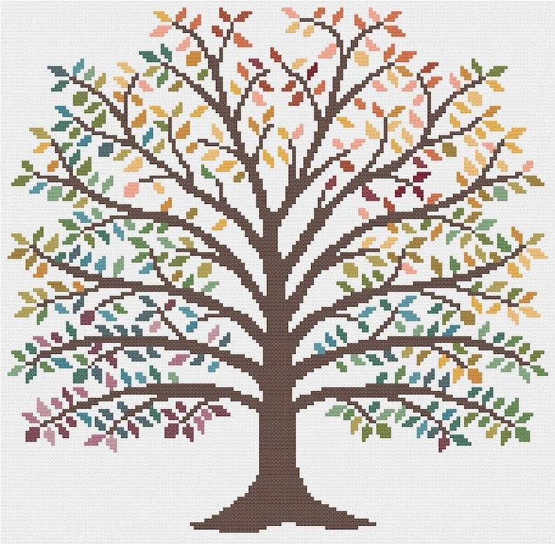 Temperature Tree cross stitch pattern PDF  INSTANT DOWNLOAD image 0