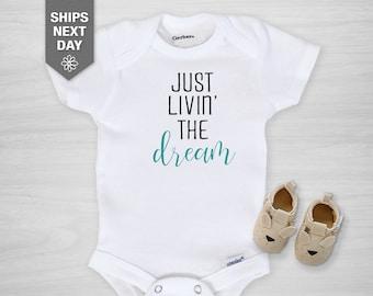 Little Girl Bodysuit Dream Big Little One ONESIE\u00ae Stars