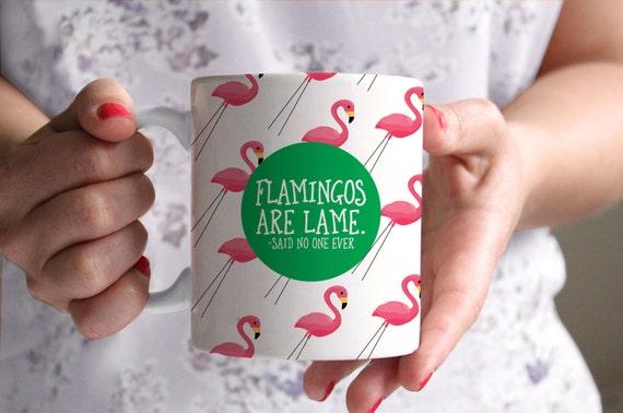 Flamingo Mug Funny Coffee Birthday