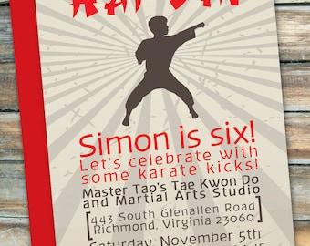 Karate . Martial Arts . Tae Kwon Do Party - Birthday