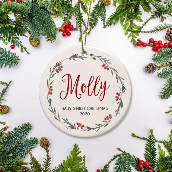 personalized ornaments for baby First Christmas ornament baby 1st Christmas ornament babys first Christmas ornament 1st Christmas baby