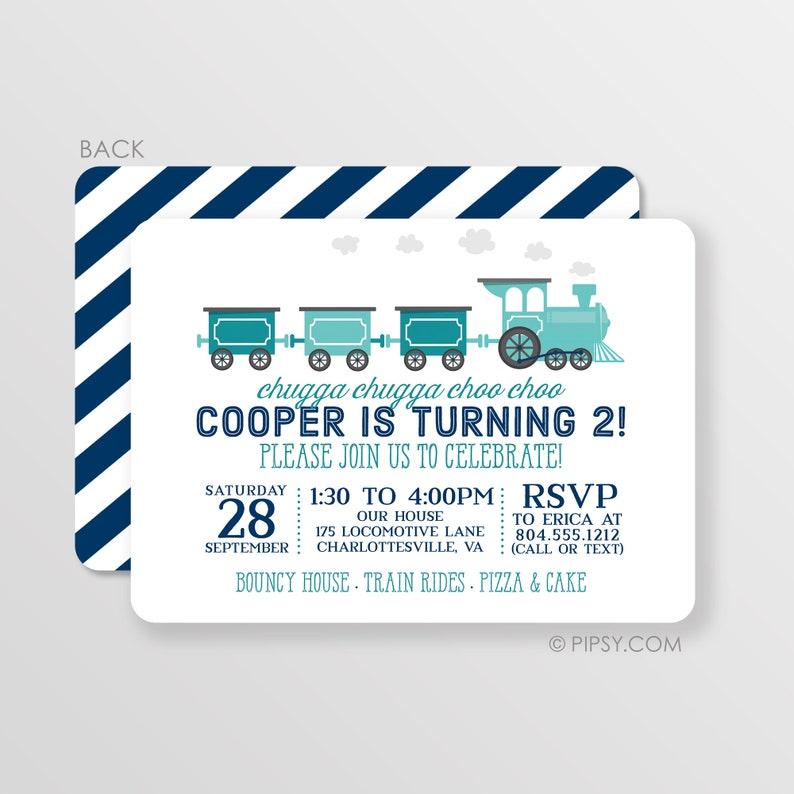 Train Invitation Birthday Party