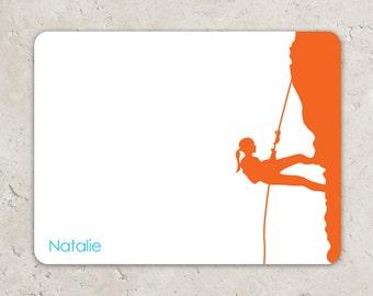 Girl's Rock Climbing  Flat Notecards - Thank you notes