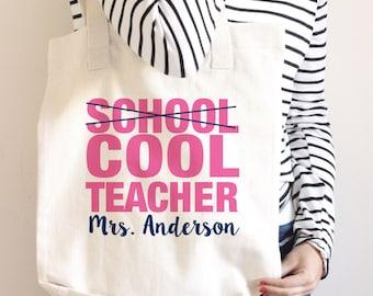 Teacher Tote Bag - Teacher Book Bag - Personalized - Teacher Gift