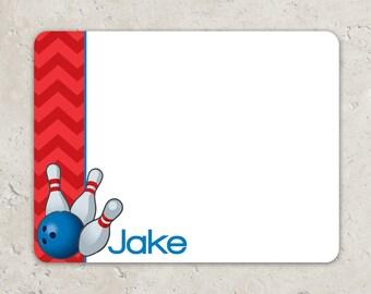 Bowling  Flat Notecards - Thank you notes - Chevron