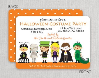 Costume Invitations | Swanky Press - Halloween party