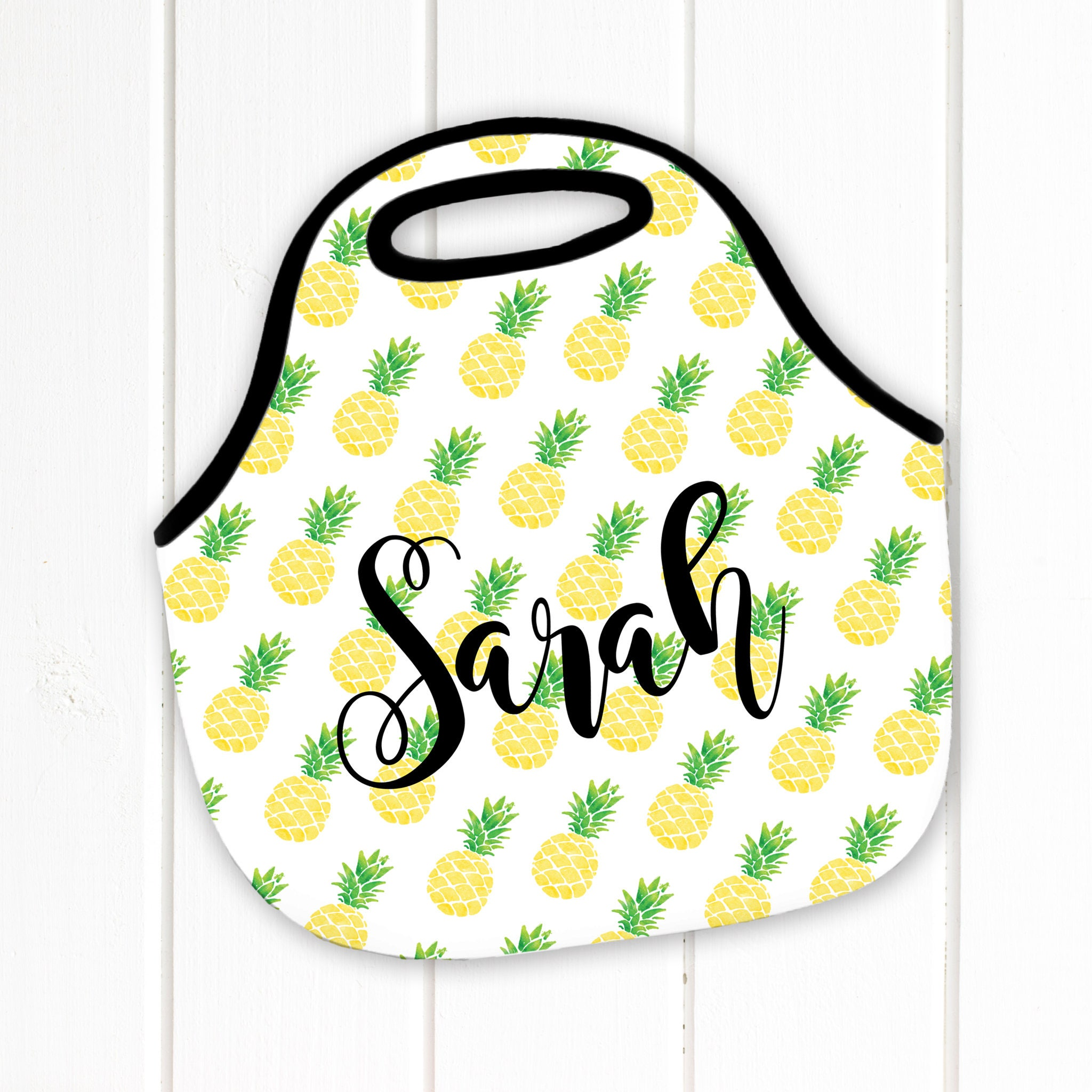 eec7188e7a96 Personalized Lunch Tote, Pineapple, Neoprene Lunch Tote, Lunch Bag, Lunch  Box - Monogram Lunch Tote-Lunch Bag, Monogrammed lunch tote