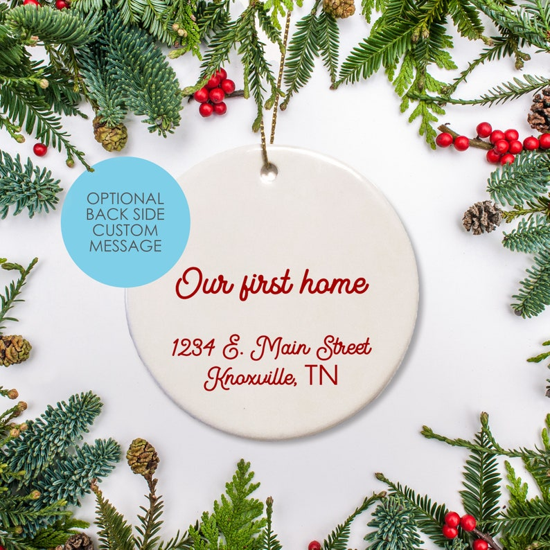 New House Just Moved Ornament Personalized Tennessee Christmas Ornament First Year at College 2020 UT Graduate