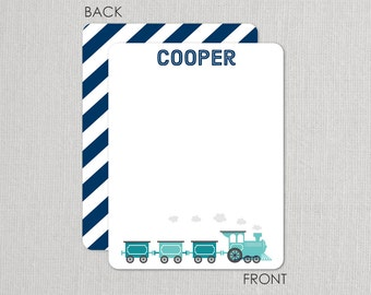 Train  Flat Notecards - Thank you notes