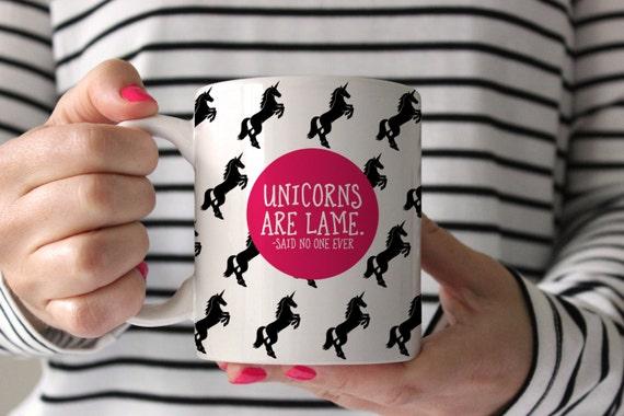 Unicorn Mug Funny Coffee Birthday Gift For Her Lover Tea