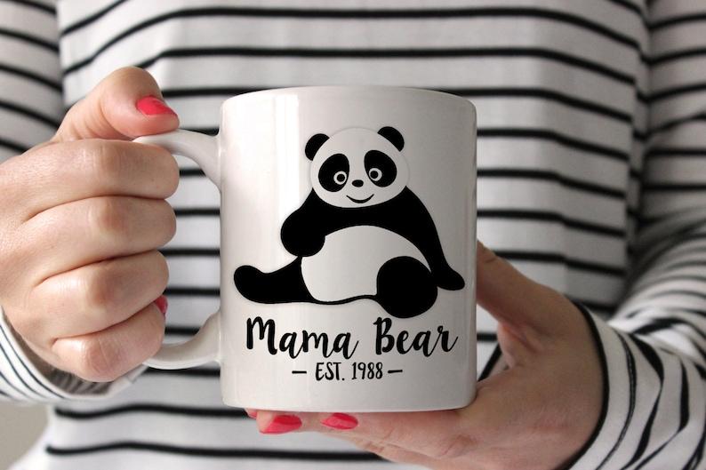 14cc33de19 PANDA Mama Bear Mug . panda bear . Christmas Mug for Mom   Etsy
