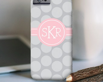 iPhone 7 Personalized Case  - Polka Dot monogram  - other models available