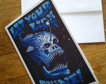 Greeting Card: Let Your Light Shine