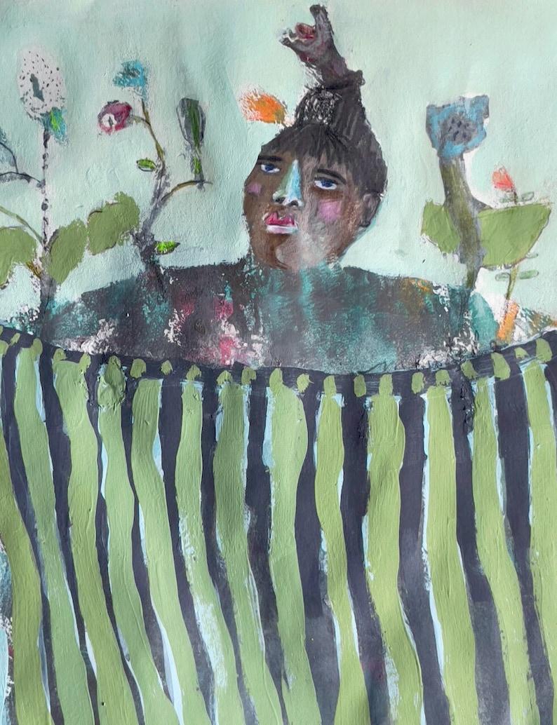 Flourish Modern Folk Art Painting by Mystele image 0