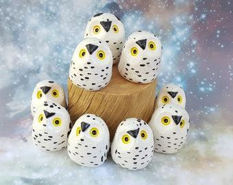 Snowy Owl Ceramic Figurine
