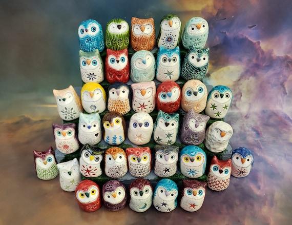 One Surprise Ceramic Owl Figurine