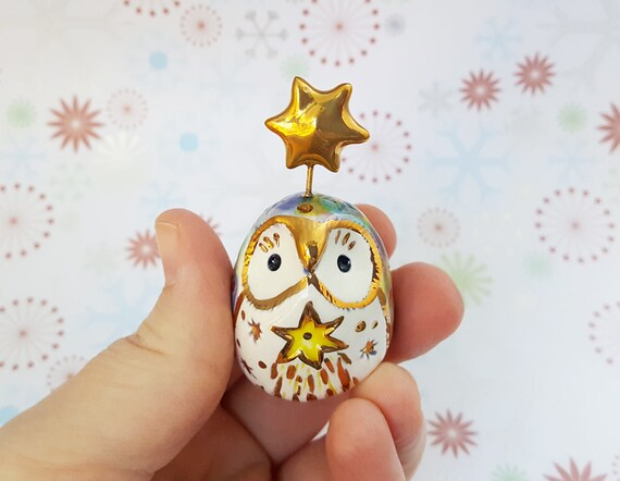 Owl Sculpture with Shooting Star