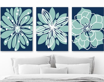 More Colors. Flower Pictures, Navy Aqua Bedroom Decor ...