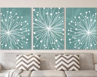 Teal bedroom decor | Etsy