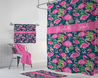 De Flamingo Badkamer : Flamingo badmat etsy