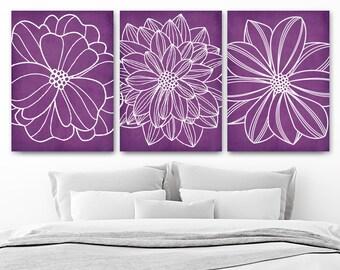Purple bedroom art | Etsy