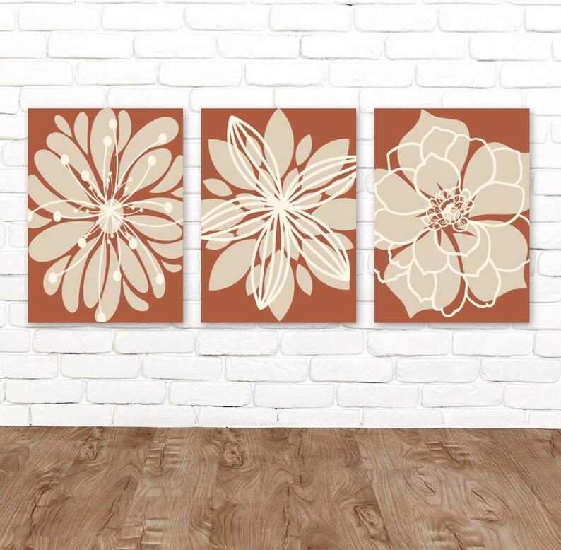 terracotta wall art flower kitchen wall decor floral kitchen | etsy