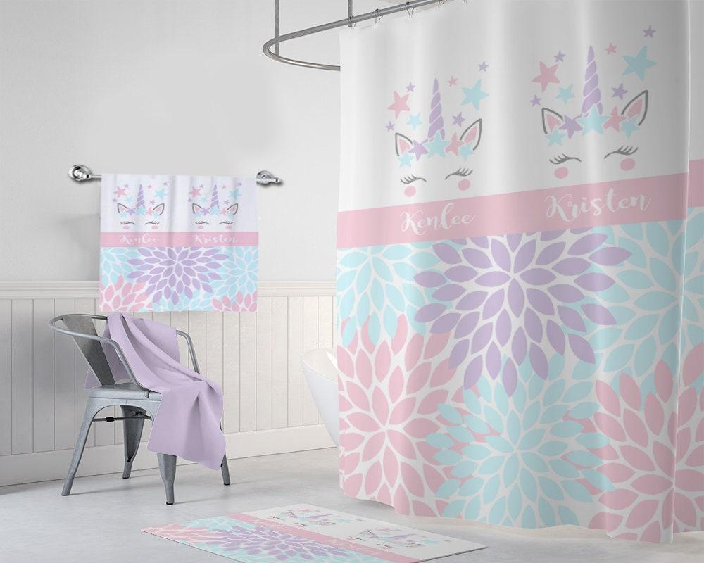Unicorn Shower Curtain Unicorn Bathroom Decor Unicorn