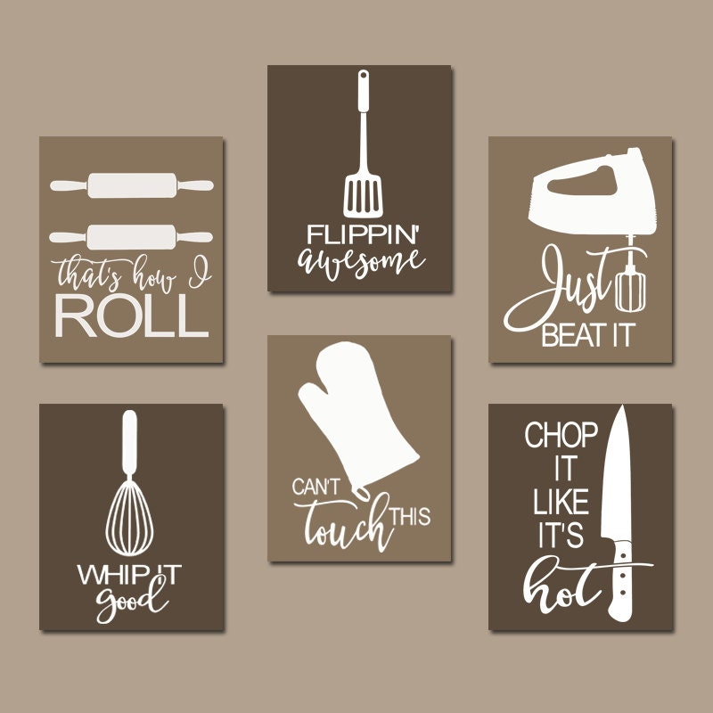 KITCHEN QUOTE Wall Art Funny Utensil Wall Decor CANVAS Or