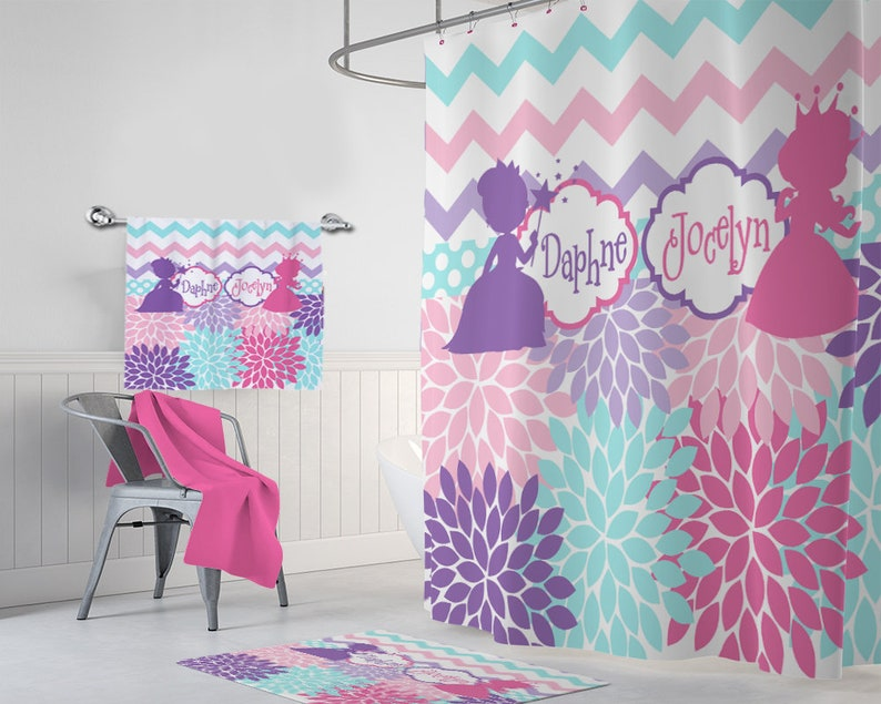 Princess SHOWER CURTAIN Sister Bathroom