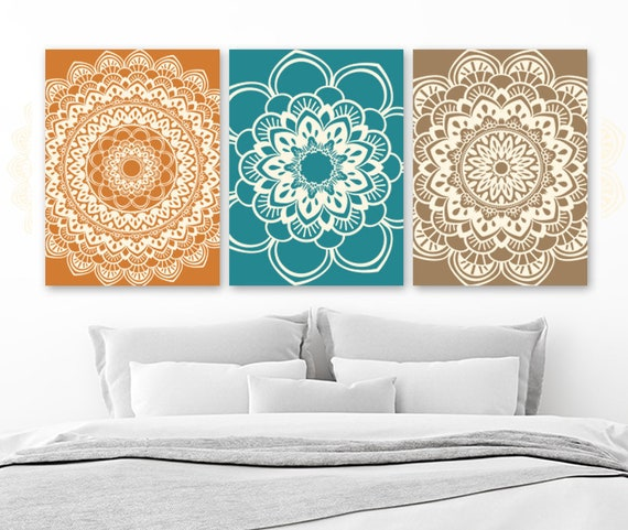 Mandala Wall Art BATHROOM Wall Decor CANVAS or Prints | Etsy