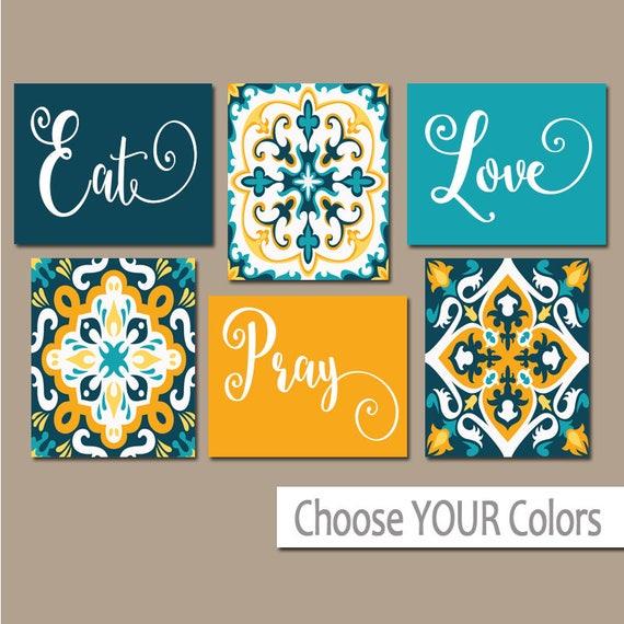 EAT PRAY LOVE Kitchen Wall Art Kitchen Canvas or Prints