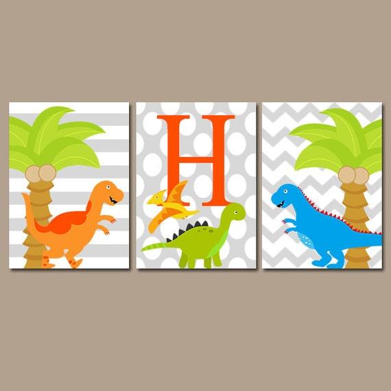 Boy DINOSAUR Wall Art DINOSAUR Decor Baby Boy Dinosaur | Etsy