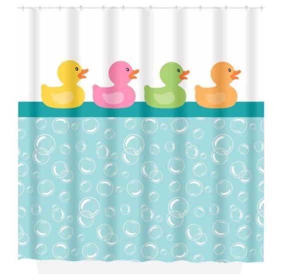 Duck SHOWER CURTAIN Bathroom Custom Monogram