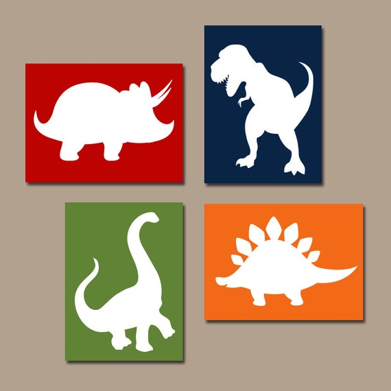 DINOSAUR Wall Art Dinosaur Decor Dinosaur Canvas or Prints | Etsy