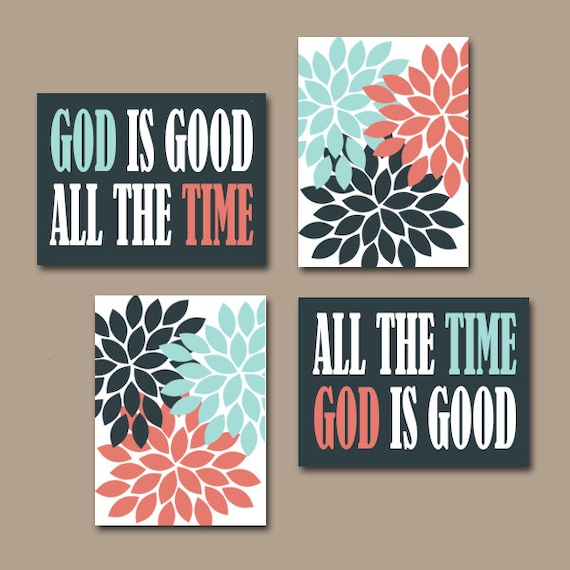 God Is Good All The Time Wall Art Canvas Or Prints Religious Etsy