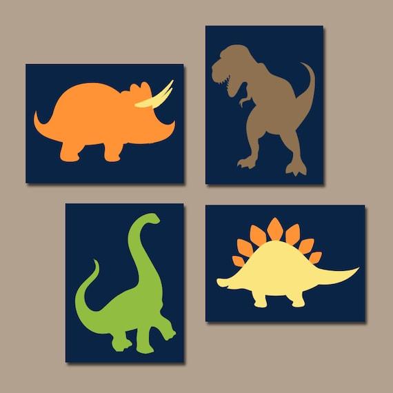 DINOSAUR Wall Art Dinosaur Canvas or Prints Dinosaur Decor | Etsy