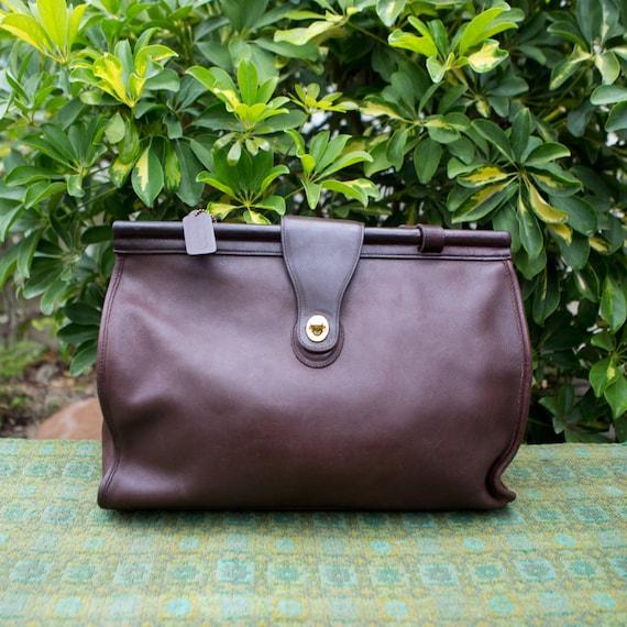 d89ea7ac Vintage Coach Barclay XXL Large Brown Leather Duffle Briefcase Work Satchel  Shoulder Bag Purse Tote 9096 06201815