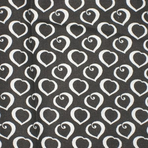 Vintage 60/'s Polka Dot Cotton Fabric Black w Multi-Color Dots,