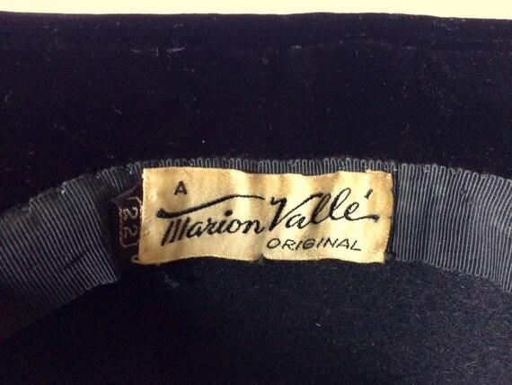 Vintage 30's-40's Black Felt Hat, Wide Brim, Larg… - image 10