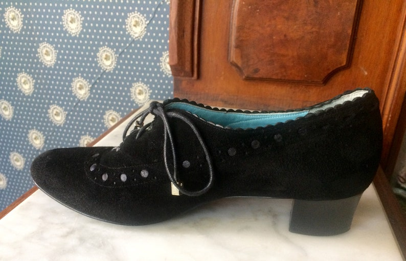 info for 3022e e223a Vintage THIERRY RABOTIN Black Suede Shoes, French Designer Pumps, Made in  Italy Size 37, US Size 7