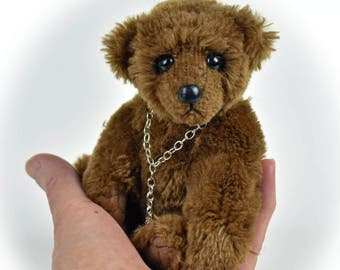 Stan - Teddy Bear, Handmade, Stuffed Animal, Toy, OOAK, Faux Fur, Custom Teddys