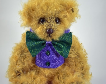 Jeff – Artist Teddy Bear, Handmade, Stuffed Animal, Toy, OOAK, Mohair, Jointed, Custom Teddys