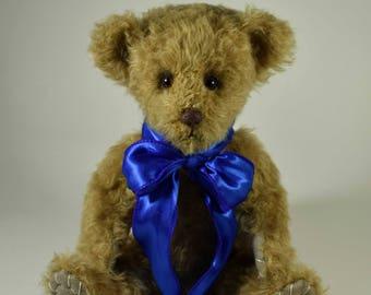 Peanut – Handmade Teddy Bear, Artist Bear, Stuffed Animal, Mohair, Toy, OOAK, Made In Alaska