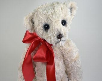 Sam – Handmade Teddy Bear, Artist Bear, Stuffed Animal, Plush, Toy, OOAK, Made In Alaska