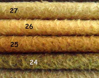 MDV. Pick your own SET of 3,  1/16 pieces of Schulte mohair. Will make lovely vintage bear. 3 x 25/35 cm