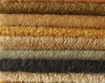 MD.  PICK you own 3 colors of SCHULTE mohair, pile 7 mm,  3x 25cm/35cm =about 3 x  9.8 / 13.8 inches.