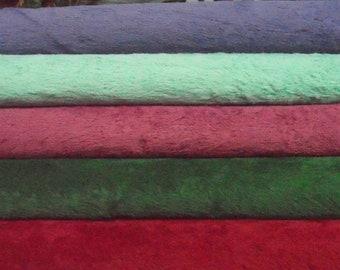 SET Temporary, 5 colors of viscose, pile 6 mm,  5x 30cm/35cm = ± 12/14 inch.