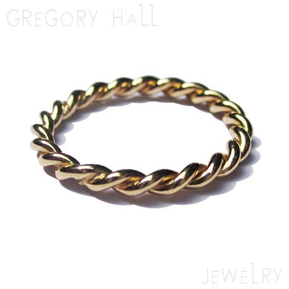 Items Similar To Gold Twist Ring Mens And Womens Wedding