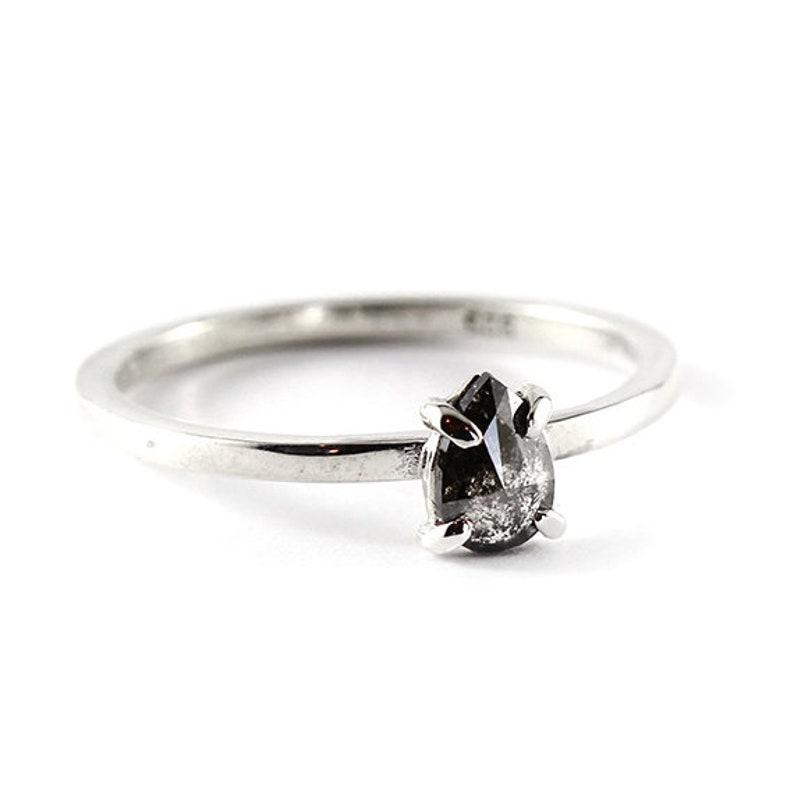 Engagement Ring Diamond Ring Diamond Engagement Black Diamond image 0